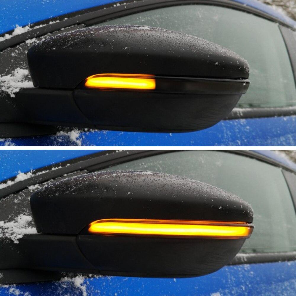 For Volkswagen VW Polo MK5 6R 6C 2009 -2017 Dynamic Turn Signal LED Side Rearview Mirror Indicator Blinker Repeater Light