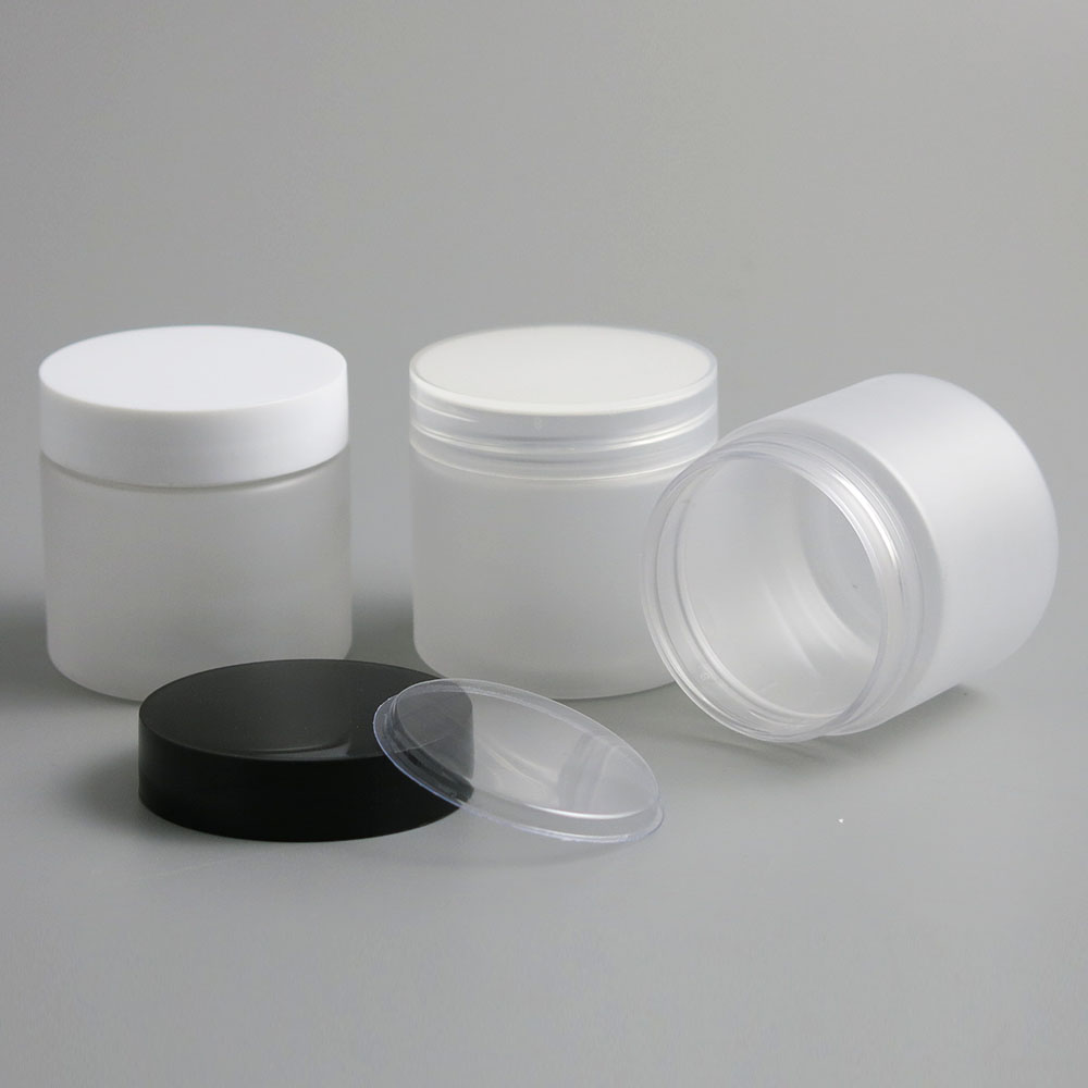 Image 4 - 30pcs Empty Clear Plastic Round Cream Lotion Jar bottle with black white Lids screw cap 60g 60ml 2oz Cosmetic Sample Containers-in Refillable Bottles from Beauty & Health