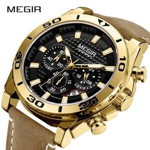 Image 4 - MEGIR 남자 시계 패션 스포츠 아날로그 쿼츠 시계 남자 브랜드 럭셔리 방수 시계 시간 Relogio Masculino Relojes 2020