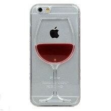 Caliente la venta de vino tinto copa Liquid cubierta transparente para Apple iPhone 4 4S 5C 5 5S 6 6 S 6 más todos los modelos cajas del teléfono contraportadas