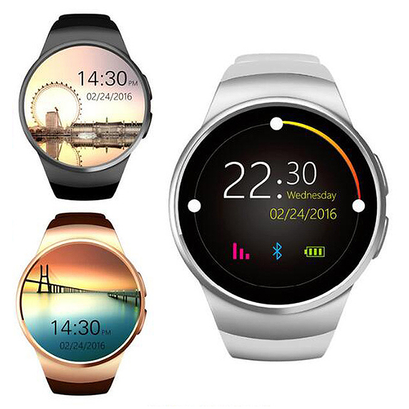 LANGTEK Smart Watch For Ios Android phone Support Multi languages With Camera Bluetooth Smart Watch Pedometer SIM Card KW18