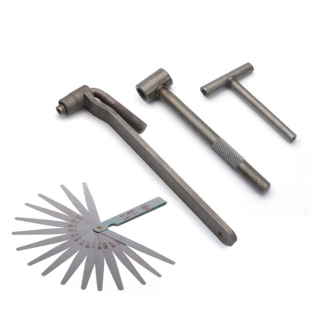 Motorcycle Engine Valve Adjustment Tool Square Hexagon Socket T Spanner Valve Screw Wrench 8mm 9mm 10mm Feeler Gauge 0.02 To 1mm