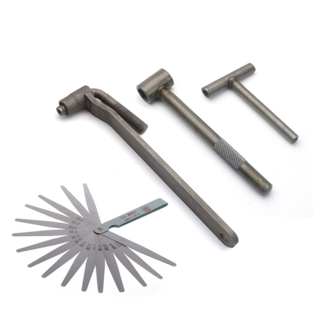 US $1 8 5% OFF|Motorcycle Engine Valve Adjustment Tool Square Hexagon  Socket T Spanner Valve Screw Wrench 8mm 9mm 10mm Feeler Gauge 0 02 to  1mm-in