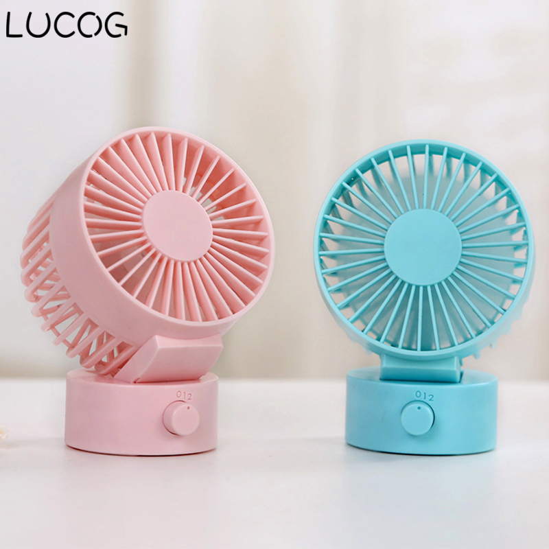 LUCOG Mini USB Desktop Fan 30 Degree Rotation Personal USB Cooling Fan Power Bank & Notebook & Computer Summer Gadget cute pet fan dog cat rabbit style summer cooling fan household ventilator with usb power bank function