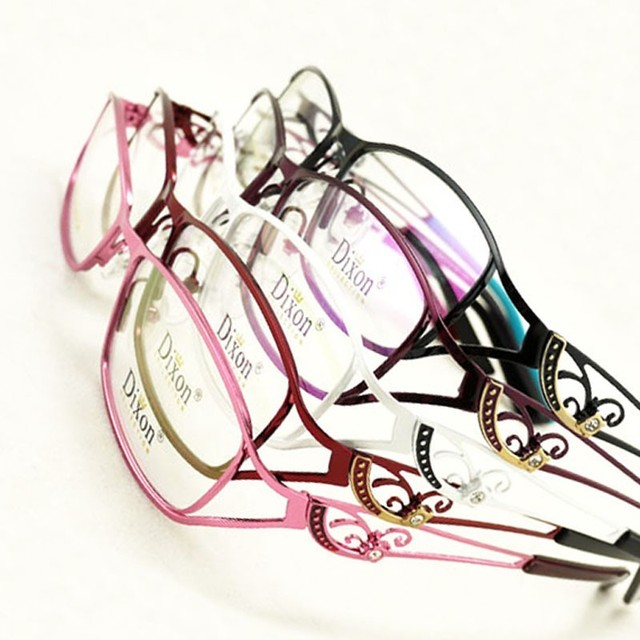 7e4cfc84bdb9 Gel Glitter Metal Half rim Optical Prescription EYEGLASSES FRAMES Women Glasses  RX Spectacle D9726 Eyewear
