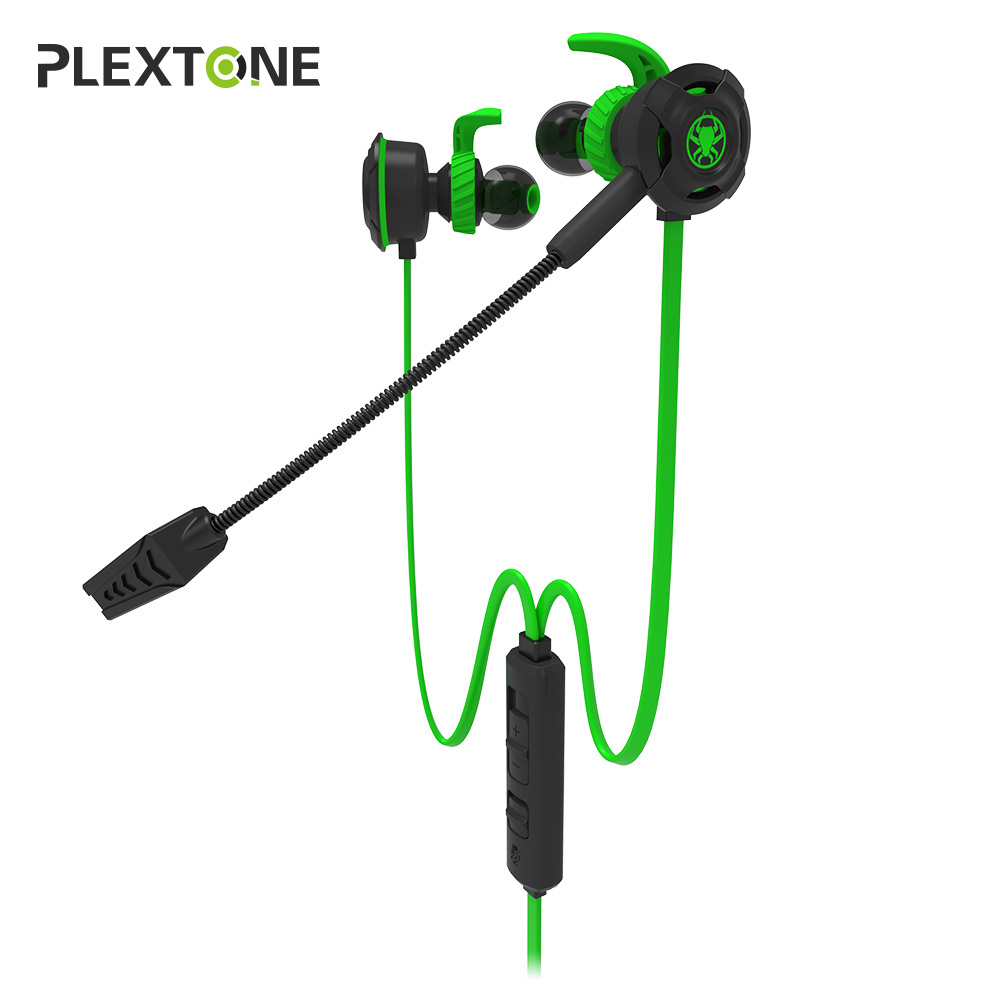Plextone In-ear Earphone Gaming Headset Stereo with Mic PC Gamer Headset for PS4 Xbox One plextone g20 wired magnetic gaming headset in ear game earphone with mic stereo 2m bass earbuds computer earphone for pc phone