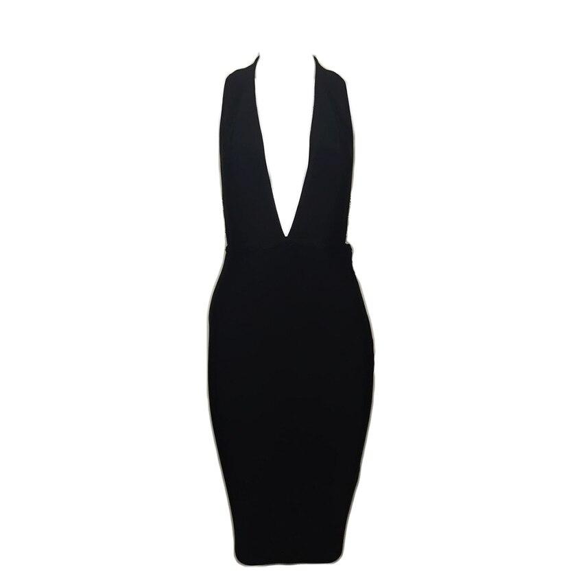 Robes Noir Nouvelle Biege Femmes D'été Chaîne 2018 Rouge Robe Sexy Blanc Parti Moulante Bandage black Dos Nu TqxZ0w6Z