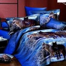 Комплект постельного белья с 3d принтом 4 шт.(1 пододеяльник+ 1 простыня+ 2 наволочки