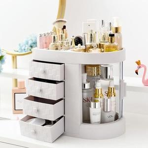 Image 1 - 2019 Hot Sale Women bathroom cosmetics storage box and dustproof bathroom Large makeup organizer skin care jewelry storage drawe