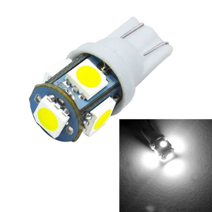 T10 led 5050 Auto W5W 194 5050 2W 6000K car bulbs 5-smd Light-Emitting Diodes Independent Led Bulb No Errors Car Lamp t10 1w 6000k 20 lumen 2x 5050 smd led car white light bulbs pair dc 12v