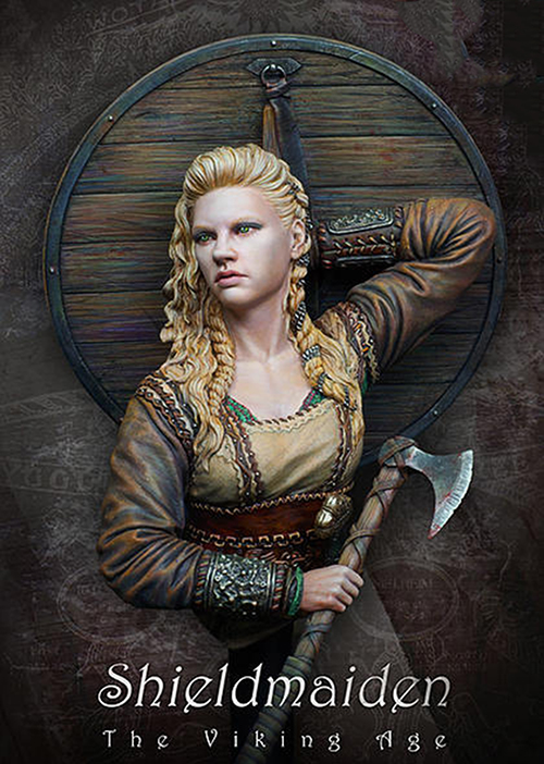 Resin Assembly  Kits  1/ 10 Shieldmaiden, The Viking Age Bust  Unpainted Kit Resin Model Free Shipping
