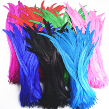 50Pcs/Lot Rooster Coque Tail Feathers 40-45cm 16-18-Inch Natural for Crafts Wedding Decoration Clothing Plumes