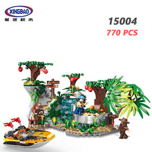 XINGBAO 15004 Forest Adventure Series 770PCS Explore The Stones Scenes Building Blocks Tree My World Bricks City Friends Model(China)
