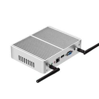 XCY Intel Core i5 7200U i3 7100U i7 4500U Fanless Mini PC Windows 10 4K HTPC Thin Client Desktop Computer NUC HDMI VGA WiFi 6USB