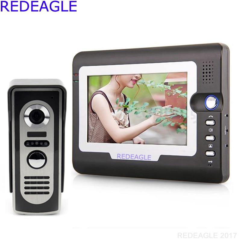 Home 7 Inch Color TFT LCD Video Door Phone Doorbell Ring Intercom Access System Night Vision IR Camera