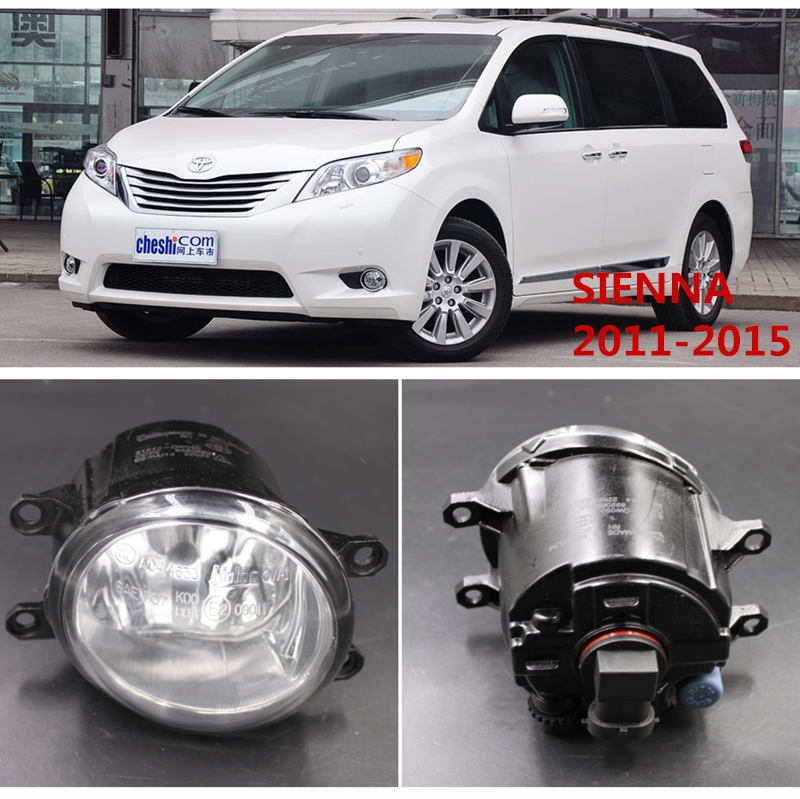 For TOYOTA SIENNA 2011-2015 Car Styling Fog Lights Front Bumper  Halogen Fog Lamps  81210-0W050 for car styling front bumper fog lights para toyota iq kgj1 ngj1 2012 2013 fog lamps esquerda direita halogen 1set