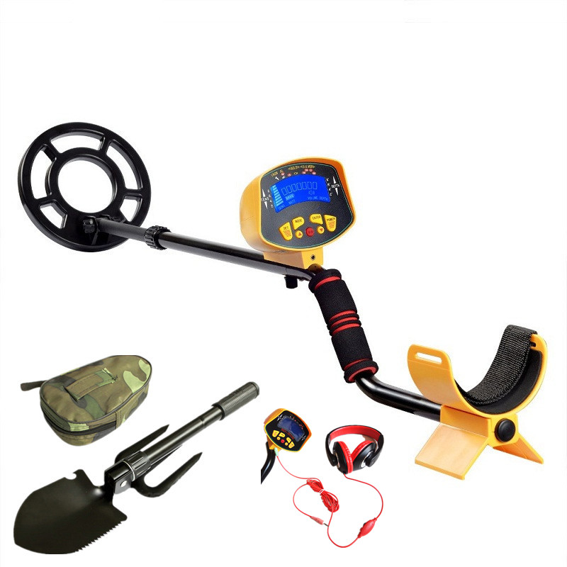 Professional Underground Metal Detector MD-3010II LCD Display High Sensitivity Searching Tool with Shovel and Headphone professional metal detector md3009ii underground metal detector gold high sensitivity and lcd display md 3009ii metal detector