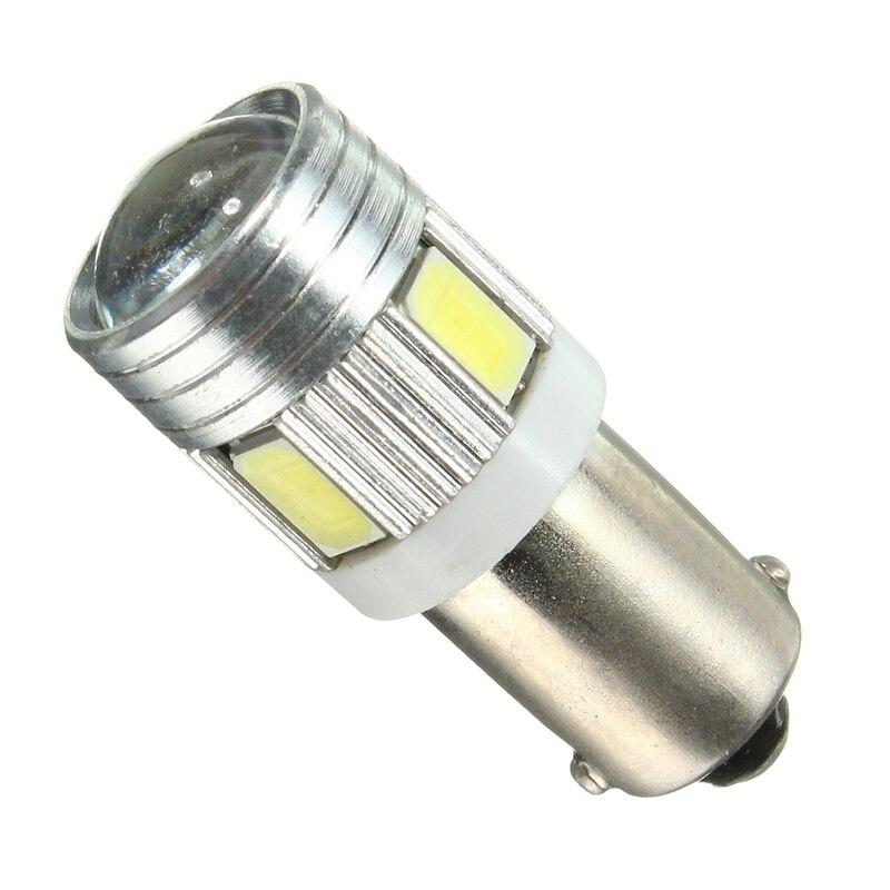 1pcs 5730 5630 T4W BA9S 120LM 1.2W 6 SMD Car Auto LED Super White Interior Side Tail Wedge Light Bulb Lamp 6000K-6500K DC12V
