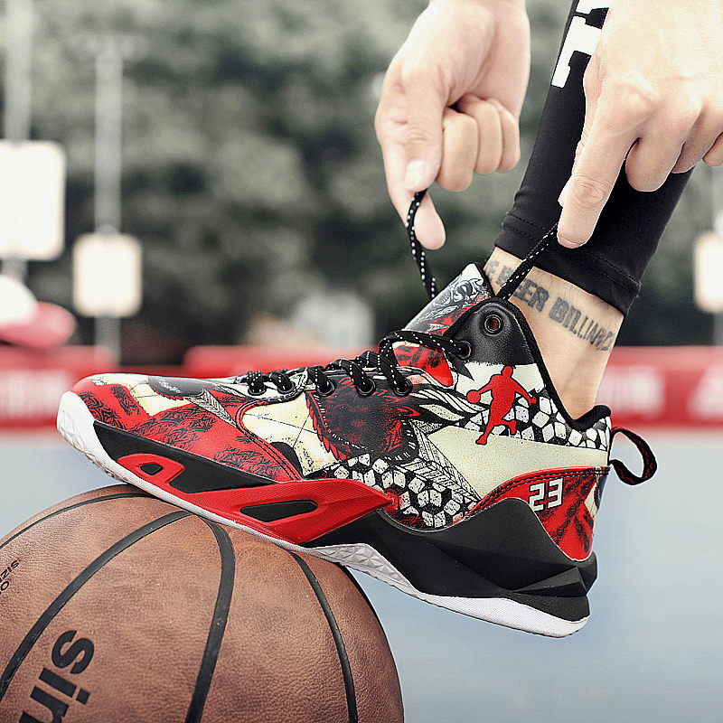 Boy Outdoor Shoes Red Basketball Sneakers Male Pu Leather Sneakers Men High Top Brand Gym Shoes Designer Basketball Shoes Sport 14