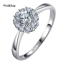 Vissap Ring Set S925 White Gold plated Rings For Women wedding Engagement ring zirconia bijoux HOT SALE Wholesale VSR016