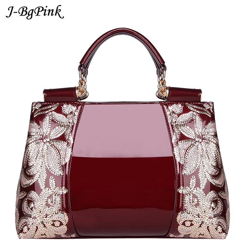 Luxury Handbags women bags High-end counters genuine leather patent leather handbags women's shoulder bags luxury famous brand luxury genuine leather shoulder