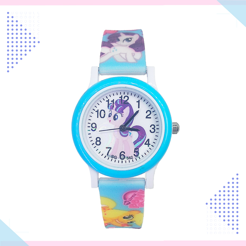 New Unicorn Design Cartoon Fashion Pony Watch Children Silicone Quartz Boys Girls Students Kids Watches Relogio Kol Saati Clock