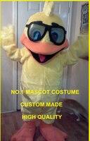 Заводская костюмы прекрасный Дайвинг желтая утка костюм талисман для взрослых утенок тема карнавал Mascotte нарядное платье костюм 1720