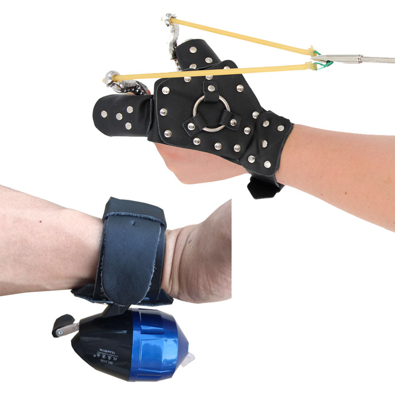 Catapult Guard Bow Slingshot Fishing Wrist Reel Strap Protector Archery Hunting Arrow Shooting Protective Gloves Left Right Hand