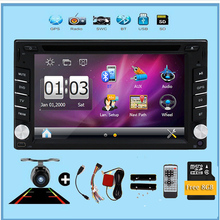 Double 2din Car autoradio GPS Navigation 2 din Car DVD Player with Bluetooth Stereo video+Camera+steering wheel+GPS Navigation