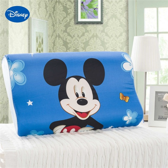 Bleu Lumineux De Couleur Mickey Mouse Cartoon Memoire Oreillers