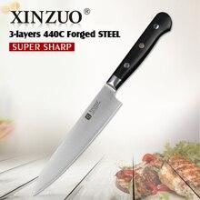 XINZUO 6 zoll universalmesser 3 schicht 440C verkleidet stahl küche messer G10 griff edelstahl schälmesser Pro höhlenforschung messer