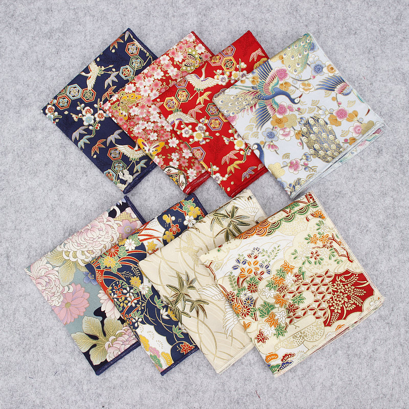2018 Brand New Men's Suits Pocket Square Handkerchiefs Birds Cotton Flower Print Hankies Fashion Business Wedding Pocket Hanky