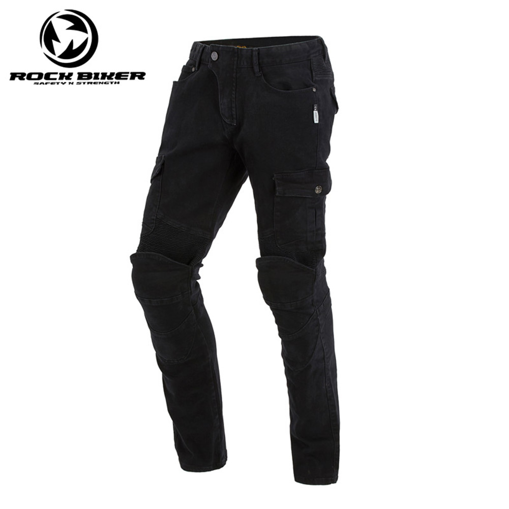Rock Biker Motorcycle Jeans Riding Protective Motorcycle Jeans Skinny Moto Racing Pants With Detachable CE Protector