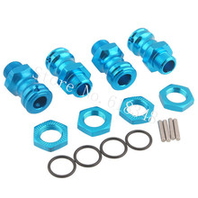 4pcs Anodized 17mm Aluminum Wheel Hubs Hex Kit 23MM Extension Adapter Steel Pin Inner Diameter 8mm O-Ring For 1:8th RC Hobby Car