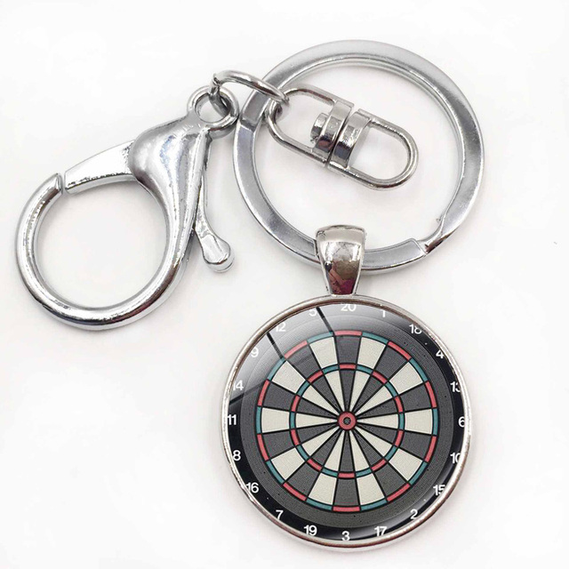 US $1 94 35% OFF|Vintage Dartboard Keychain Dartboard Jewelry Key Chain  Dart Target Game Keychains Dart Sports Key Holder-in Key Chains from  Jewelry &