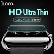 Original HOCO 0.15mm Tempered Glass Film for Apple Watch HD Ultra Thin 9H Screen Glass Film for iWatch Series 12 Protective Film