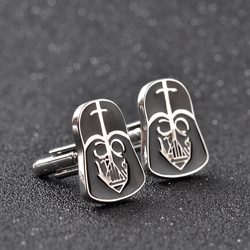 Designer Brand Cuff Links New Arrival Male Wedding Metal Cufflinks French Cuff Shirt Cufflinks For Boys Top Grade Enamel in Tie Clips Cufflinks from Jewelry Accessories