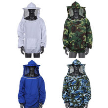 Durable  Beekeeping Jacket Veil Smock Equipment Supplies Bee Keeping Hat Sleeve Suit High-quality Cotton
