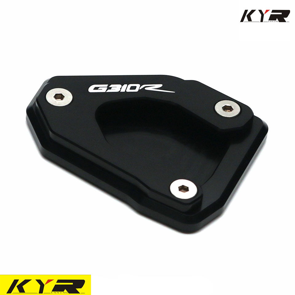 Motorcycle For <font><b>BMW</b></font> G310R <font><b>G</b></font> <font><b>310R</b></font> G310 R 2017-2018 CNC Kickstand Side Stand Enlarger Extension Plate Pad image