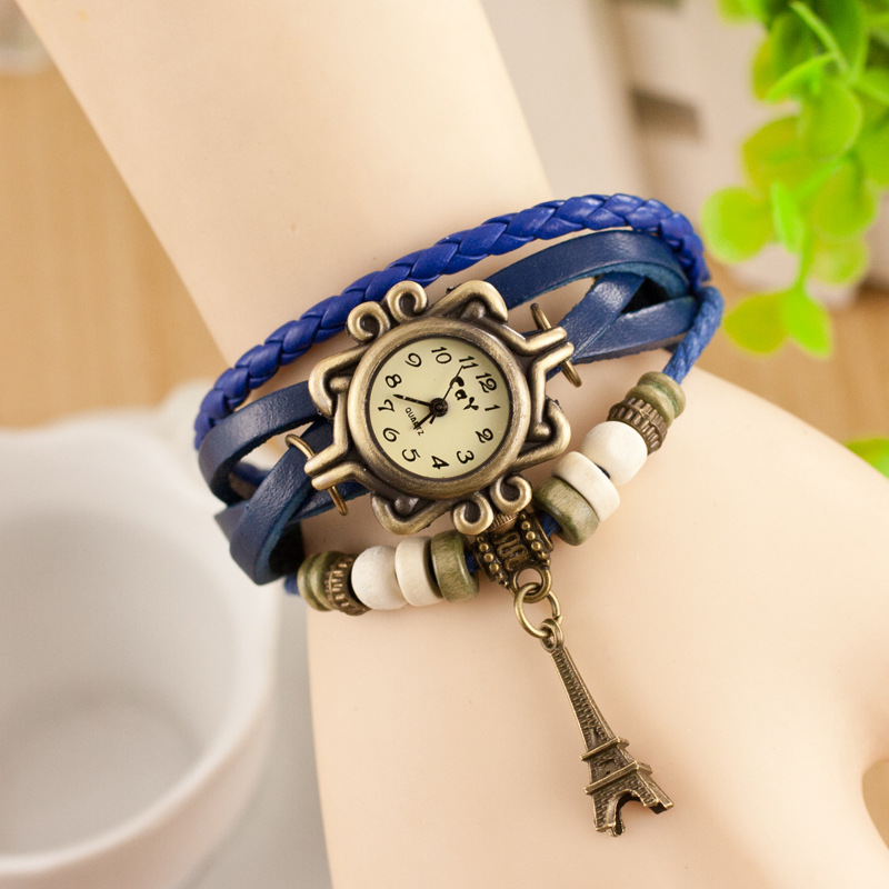 CAY Fashion Bracelet Watch Effen Effiel Tower Pendant Vintage Digital - Dameshorloges - Foto 3