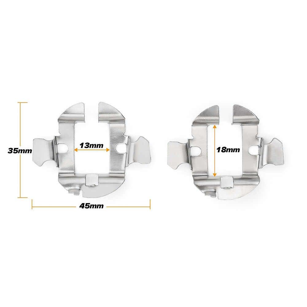 H7 HID Xenon Lampu Mobil Lampu Bohlam Dasar Dudukan Adaptor Soket H7 Bohlam Lampu Depan LED Adaptor Auto Headlamp Mount untuk BMW VW