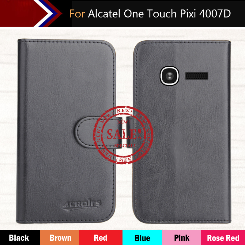 6 Colors Dedicated Customize Leather Vintage Anti-slid Smartphone Cover Case For <font><b>Alcatel</b></font> <font><b>One</b></font> <font><b>Touch</b></font> <font><b>Pixi</b></font> <font><b>4007D</b></font> 3.5