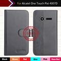 """6 cores dedicado customize leather vintage anti-deslizou smartphone case capa para alcatel one touch pixi 4007d 3.5 """"cartão da carteira"""