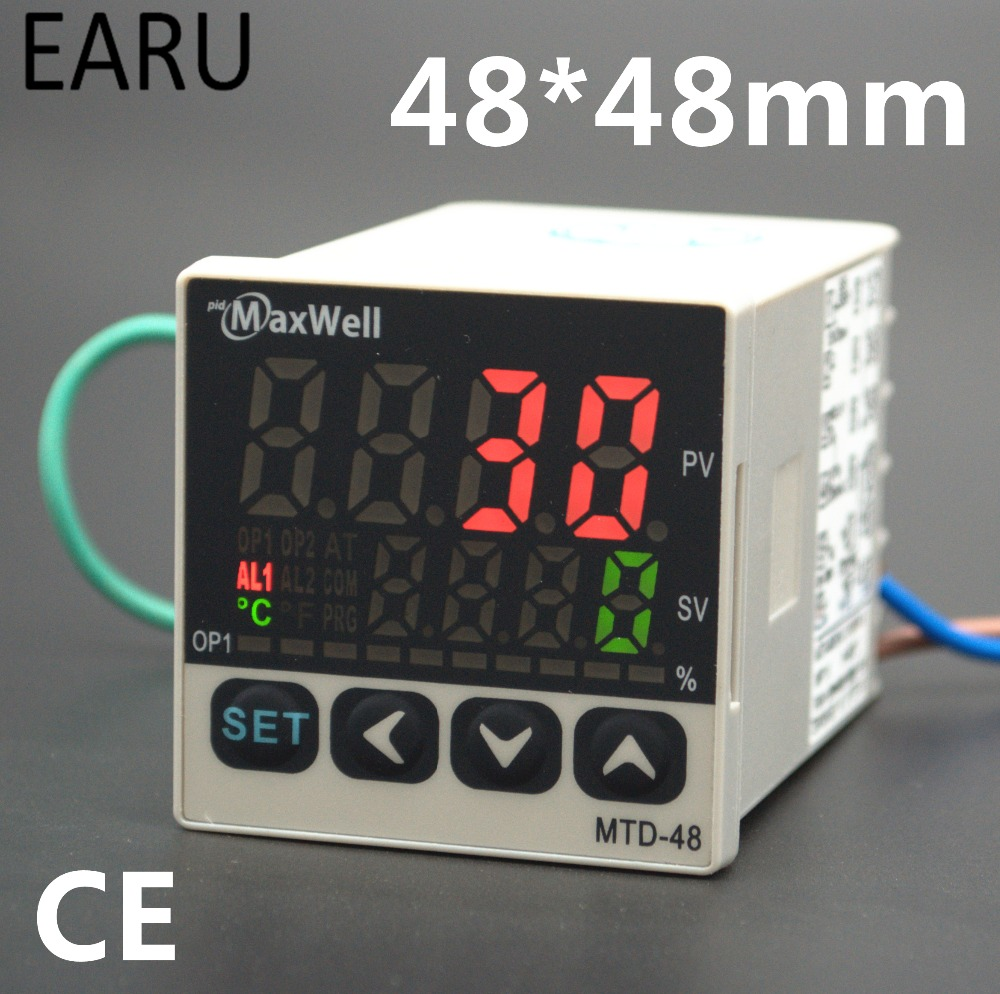 48*48mm Digital Temperature Controller Control AC85-265V Power Thermocouple Universial K J PT100 Input SSR+Relay / 4-20mA Output