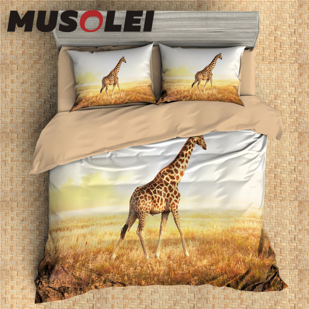Musolei 3D Bedding Set Animal Bed Cover Set Duvet cover set, gift for kids Elephant, Turtle, Rhinoceros, Wolf Home Textiles 3pcsMusolei 3D Bedding Set Animal Bed Cover Set Duvet cover set, gift for kids Elephant, Turtle, Rhinoceros, Wolf Home Textiles 3pcs