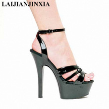 LAIJIANJINXIA nueva 15 cm Super alta partido princesa Sexy tacones Roma  zapatos 6 pulgadas zapatos de tacón alto correa trasera . 30fe832f5a5c