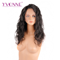 YVONNE 180% Density Brazilian Virgin Hair Body Wave Full Lace Wig Human Hair Natural Color Free Shipping