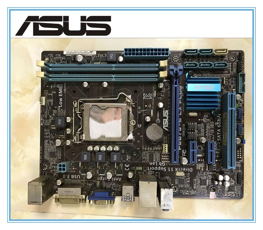 ASUS P8B75-M LX PLUS  motherboard  DDR3 LGA 1155 Solid Capacitor  mainboard free shipping asus p8h61 m lx original asus h61 m motherboard socket lga 1155 uatx ddr3 dvi vga usb2 0 16gb desktop mainboard