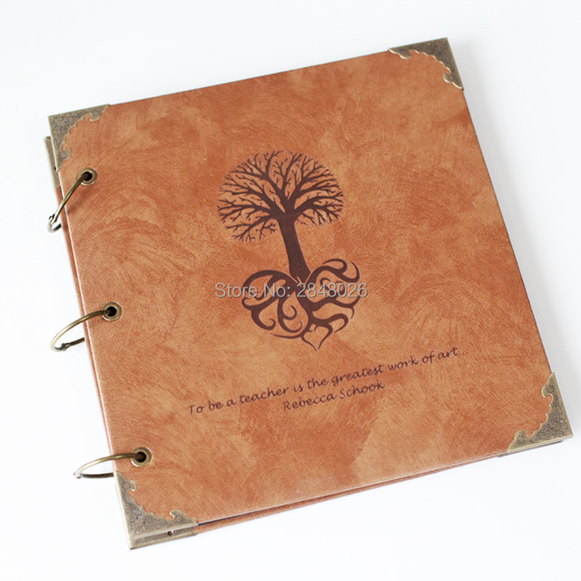 50 Pages Tree Personalized Monogrammed Engraved Leather Photo Album