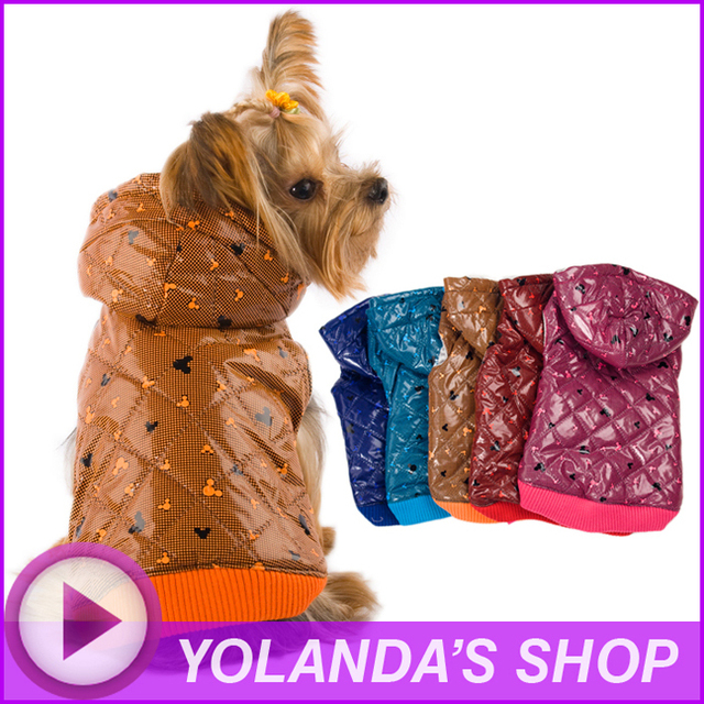 Free Shipping! WAGETON fashion dog clothes Hot sale!  Wholesale and Retail designer pet clothing -5 colors